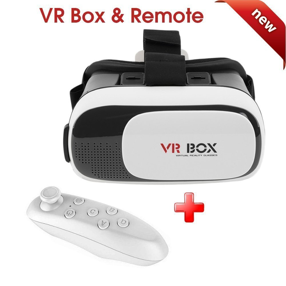53eac3f89a8e VR BOX 3D Virtual Reality Glass And Bluetooth Remote - Maacarts