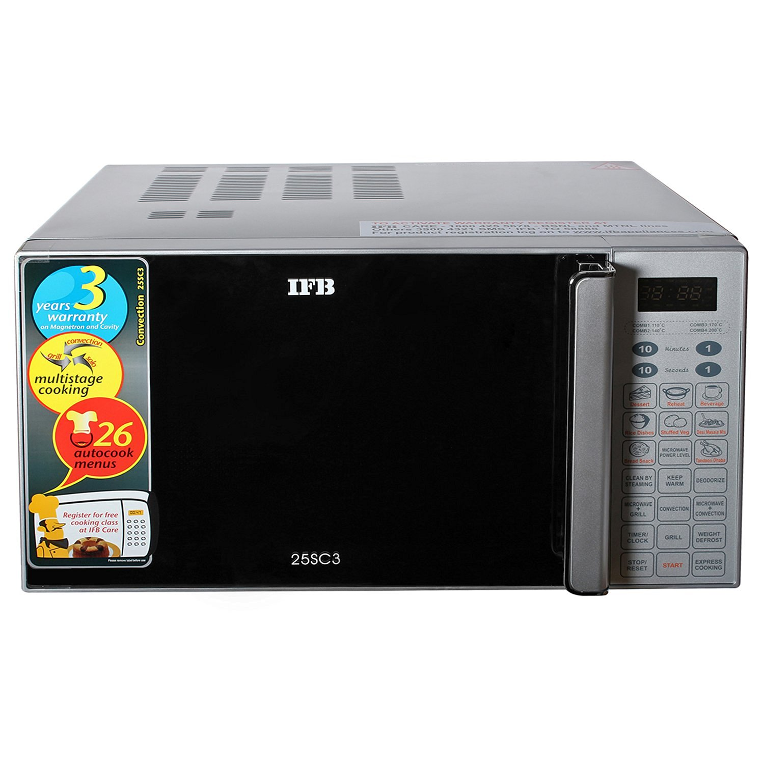 Ifb 25sc3 25 Litre 1400 Watt Convection Microwave Oven
